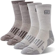Smartwool Wool Blend Winter Socks Snowboarding Ski Warm Adult Large Gray Multi