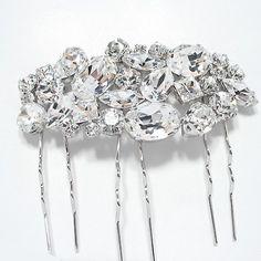 Bijuterii mireasa diademe coliere cercei cristale swarovski accesorii mirese Swarovski, Bobby Pins, Hair Accessories, Crown, Ornaments, Crystals, Beauty, Jewelry, Fashion