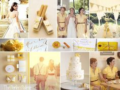 The Perfect Palette: A Vintage Bride Says 'I Do' {Gold, Yellow, Light Yellow & Camel}
