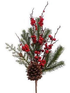 Beautiful Pine Garland In Green Decorated With Pine Cones