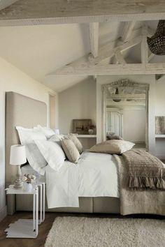 Chambre couleur lin taupe et blanc | chambre | Pinterest | Bedrooms ...