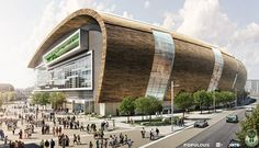 Milwaukee Arena, concept Undulating members