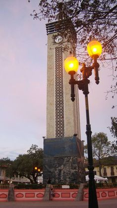 Parque San Sebastian tarde en Loja