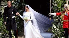Meghan Markle Stuns in Sleek Givenchy Dress for Royal Wedding   Vanity Fair