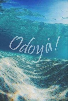 Odoyá Yemoja!  sea Wierd Quotes, Water Element, Orisha, Afro, Tumblr Wallpaper, Landscape Paintings, Serenity, Surfing, Religion