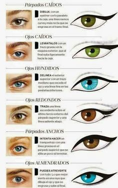 Eyeliner according to your type . by janice- Delineado de ojos segun su tipo. by janice Eyeliner according to your type . by janice – # eyes - Makeup Inspo, Makeup Hacks, Makeup Inspiration, Beauty Makeup, Makeup Tutorials, Eyeliner Styles, Pinterest Makeup, Pinterest Pinterest, Makeup Application