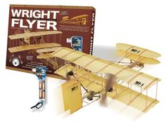 Giant Wright Flyer w/Battery Powered Winder - First Powered Flight Model Airplane Kit