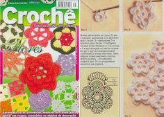 Otra revista con 27 patrones y alguno más todos de flores diferentes, preciosa revista podemos ...