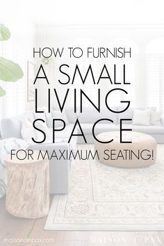 Designing a Small Living Room with a Large Sectional - Maison de Pax Small Living Room Design, Living Room Seating, Small Space Living, Living Room Modern, Living Room Designs, Living Room Decor, Living Spaces, Small Spaces, Large Sectional