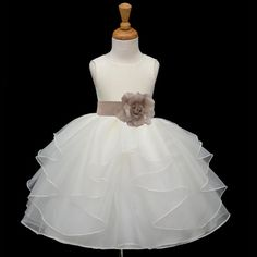 *Material: Stunning and Elegant Shimmering Poly Satin / Satin Lining / Shimmering Organza *Color: Ivory / Removable Color of your choice tie bow
