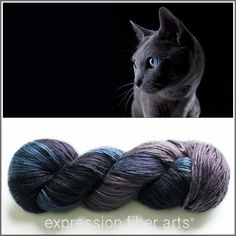 Expression Fiber Arts - RUSSIAN BLUE PEARLESCENT SILK WORSTED weight silk yarn. LOVE THIS colorway sooooo much. One of my all-time favs of all EFA shades... EVER! (http://www.expressionfiberarts.com/products/russian-blue-pearlescent-silk-worsted.html)