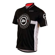 cfff010ad Mens Full Zipper Breathable Short Sleeves Cycling Jersey Bib Shorts Biking  Top Wear Suit Size 5XL -- Click image to review more details.