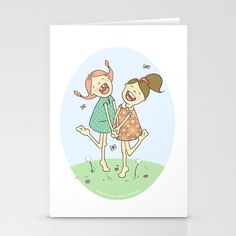 Yay! We Rock Stationery Cards by Lisa Jayne Murray - Illustration - $12.00