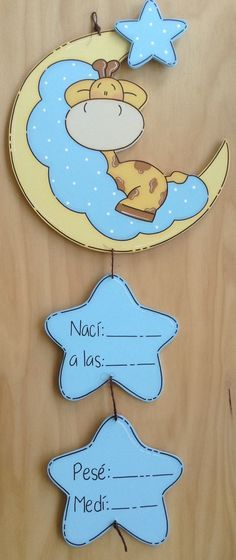 ideas baby boy art ideas shower gifts for 2019 Baby Crafts, Diy And Crafts, Crafts For Kids, Baby Door Hangers, Baby Shawer, Baby Decor, Baby Boy Shower, Shower Gifts, New Baby Products