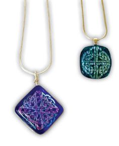 Projects made with 6 Large Dichroic Celtic Pinwheels - 90 COE