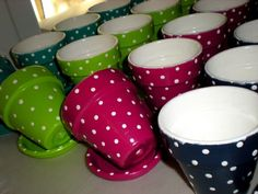 Herby pots to sell at the summer fete.