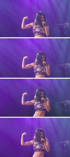 Marina and the Diamonds.  Muscle appreciation
