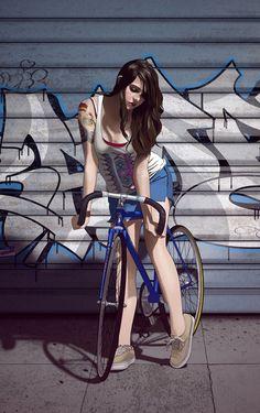 fixie chicks girls on bikes on pinterest fixie fixed gear girl and girl bike. Black Bedroom Furniture Sets. Home Design Ideas