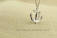Maritime seaman Anchor Pendant Necklace Jewelry by katrinakishi, $2.40