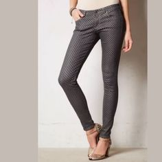 Anthropologie AG Absolute Legging Jeans New With Tag Anthropologie AG Absolute Legging Jeans Sz 32  by AG Adriano Goldschmied  Growing from a boutique line to a premium denim powerhouse within a few short years is no small feat, but Los Angeles-based AG took it in stride, simultaneously becoming an innovator of fits, finishes and washes. We love this printed, ultra-skinny mid-rise pair, complete with the perfect amount of stretch. Five-pocket styling Cotton, PES, CV, EL Machine wash  Waist…