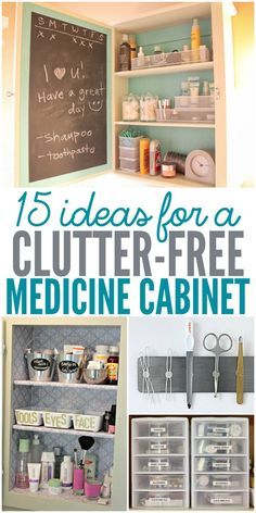 Where is your medicine cabinet? Is it in the bathroom or kitchen? No matter where it is, organization tips for your cabinet will help keep it clean and clutter free. I'm planning on trying several or these in my house.