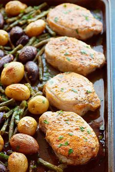 One Pan Smoky Ranch Pork Chops and Veggies