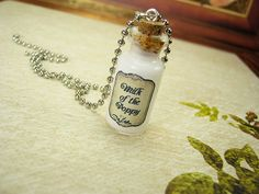 (Revamped) Milk of the Poppy 2ml glass vial necklace, inspired by Game of Thrones / Song of Ice and Fire. $11.99+ on @Etsy by RedQueenMisc