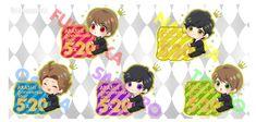 Anime Chibi, Anniversary, Fan Art, Illustrations, Illustration, Illustrators