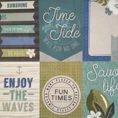 Time and Tide- 'Seaglass' paper pad