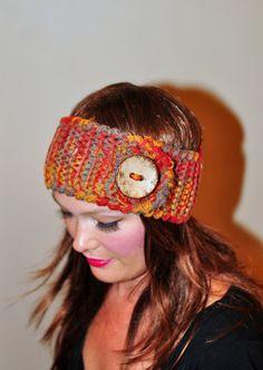 Headband Head wrap Ear warmer  Autumn Print Fall Warm by lucymir, $32.99