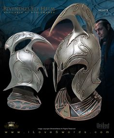 Large Detail Image of Lord of the Rings Rivendell Elf Helm UC3075 Limited…