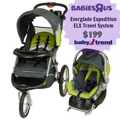 The Baby Trend Everglade Travel System is on sale until Saturday 10/26/13 in stores only at Babies R Us!
