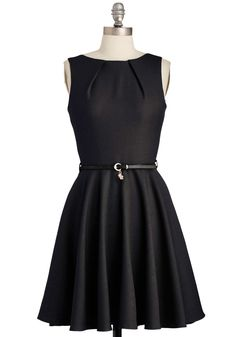 Luck Be a Lady Dress in Black. If youve been searching for a charming new frock, then youre in luck! #black #modcloth