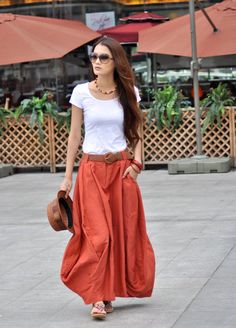 how to wear a long skirt - Google Search