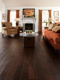 Handscraped or distressed hardwood floors have a natural worn appearance. They look like floors from the days when floors were finished by hand
