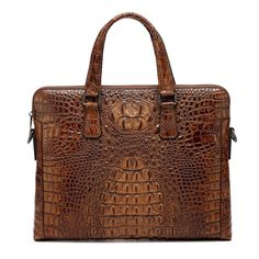 """""""Designer Inspired"""" Crocodile Pattern Leather Briefcase https://largepurseshop.com/collections/leather-briefcases/products/designer-inspired-crocodile-pattern-leather-briefcase"""