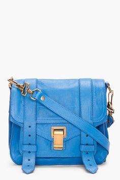 PROENZA SCHOULER PS1 Blue Pouch Bag