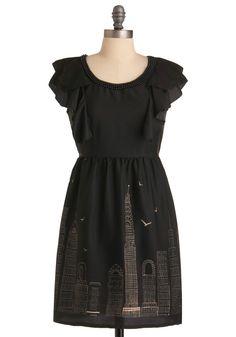 Modcloth Skyline Sketchbook Dress in Black (wheat) Mod Dress, Dress Skirt, Retro Vintage Dresses, Unique Dresses, Pretty Dresses, Modcloth, Dress Me Up, Fashion Dresses, Style Inspiration