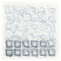 Vera Molnar (B. Square Drawing, Serendipity, Pattern Design, Concept Art, Digital Art, Photo Wall, Drawings, Abstract Paintings, Hungary