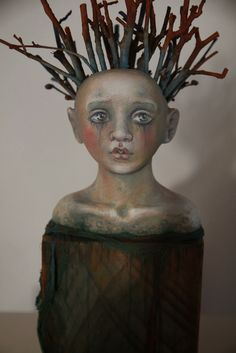 Susan McMahon, -DOLLMAKER-SCULPTOR- mix media, assemblage.