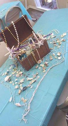 Baby Shower Themes Beach Mermaid Birthday New Ideas Little Mermaid Baby, Little Mermaid Parties, Mermaid Theme Birthday, Little Mermaid Birthday, Mermaid Themed Party, Mermaid Party Decorations, Little Mermaid Centerpieces, Ocean Centerpieces, Mermaid Baby Showers