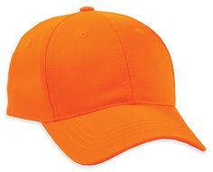 Blaze Orange Hunting cap from Town Talk Headwear ttcaps.com