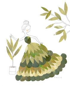 Flora series The Leaf Dress