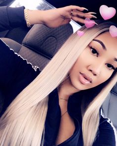 Find images and videos about hair and baddie on We Heart It - the app to get lost in what you love. Weave Hairstyles, Cool Hairstyles, Snapchat, Real Hair Wigs, Hair Color Highlights, Hair Shows, Peruvian Hair, Relaxed Hair, Black Girls Hairstyles