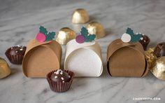 DIY Christmas Treat Boxes | Printable Christmas Crafts