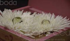 Canasta de argollas para la boda