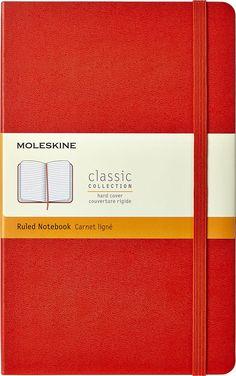 Moleskine - Classic Ruled Notebook - Red, 930048