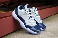 "size 40 a683f be93c 2018 Air Jordan 11 Retro Low ""Georgetown"" Grey MistWhite-Midnight Navy"