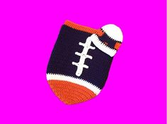 A personal favorite from my Etsy shop https://www.etsy.com/listing/214800132/denver-broncos-baby-girl-football-cocoon