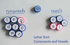 Boy Mama Teacher Mama Letter Sort Consonants and Vowel